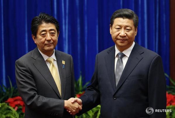 Salaman Canggung Presiden Tiongkok dan PM Jepang