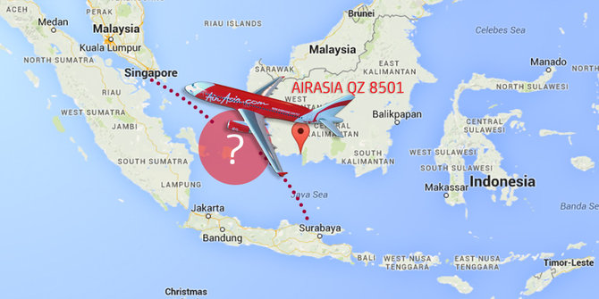 Pesawat AirAsia Hilang 1