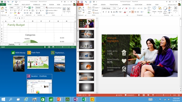 Fitur Windows 10 - Quad Snap