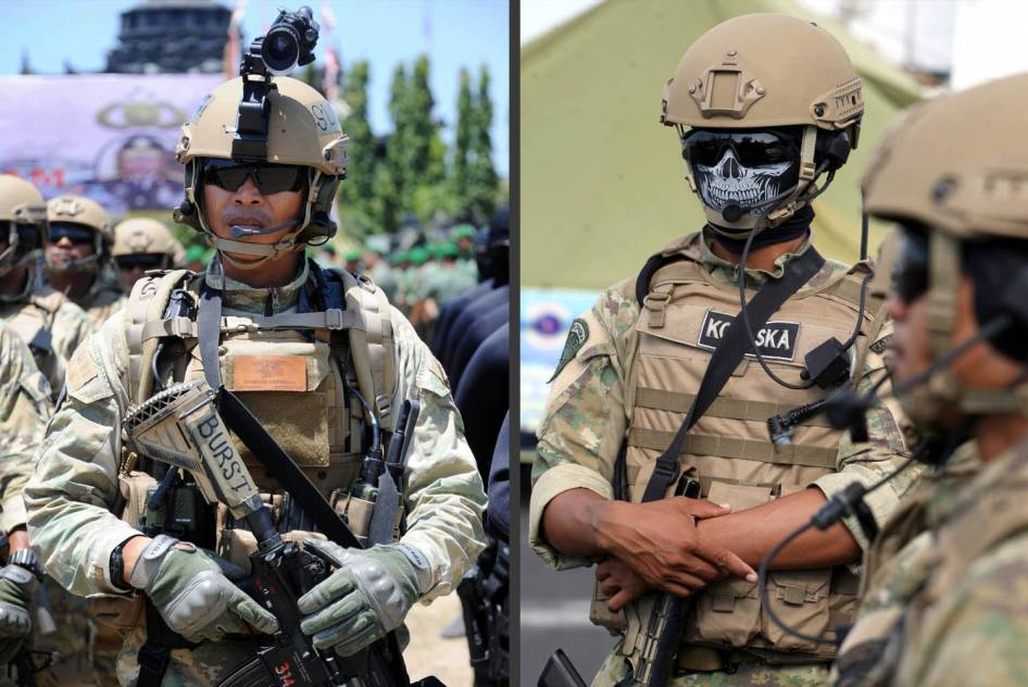 Pasukan Kopaska TNI AL Lengkap demgan Atribut