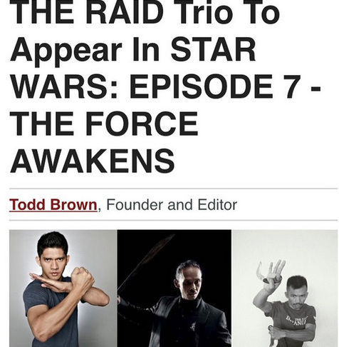 Trio The Raid Bintangi Star Wars The Force Awakens
