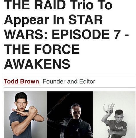 Trio The Raid Bintangi Star Wars The Force Awakens