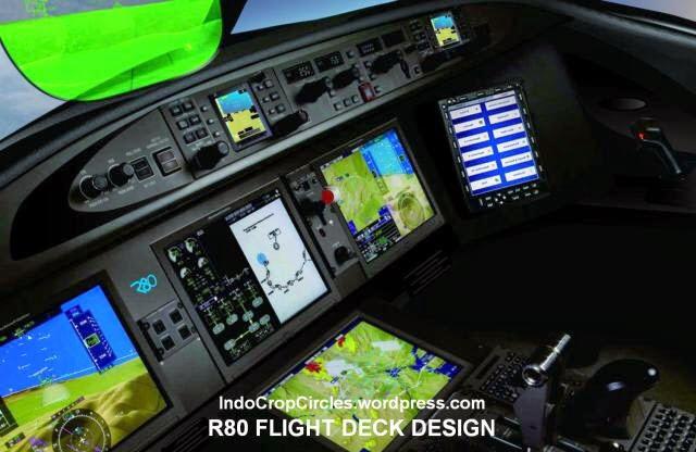 Interior Kokpit Modern Pada Pesawat R-80