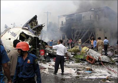 Kecelakaan Mandala Airlines di Medan 2005