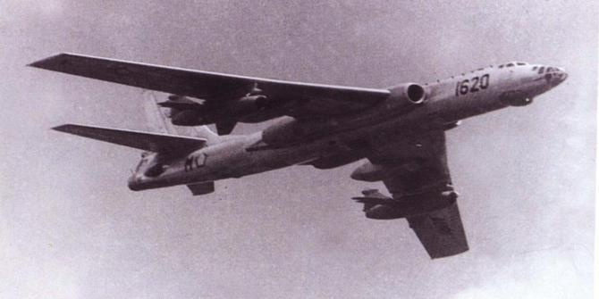 Pesawat TU-16 TNI AU Saat Masih Mengudara