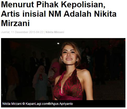 Nikita Mirzani Terlibat Prostitusi Artis