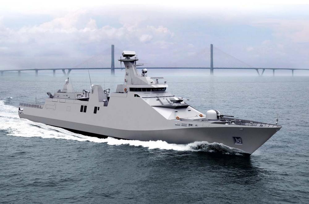 Foto Desain Kapal Perang PKR 10514 - PT PAL