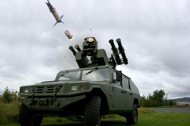 Mobil Penangkal Rudal Uro Vamtac Membawa Starstreak