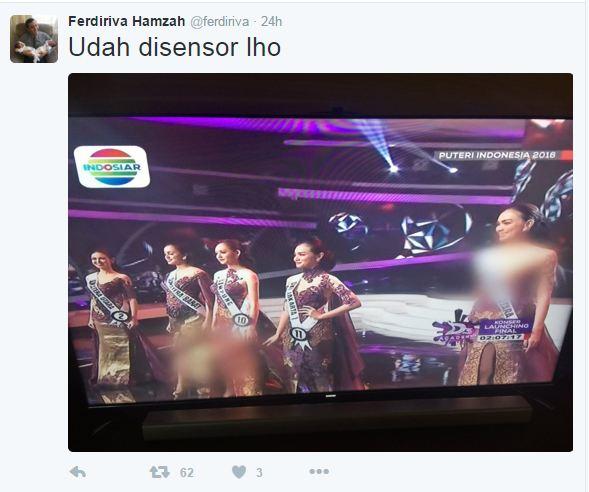 Siaran Ulang Puteri Indonesia 2016 Disensor