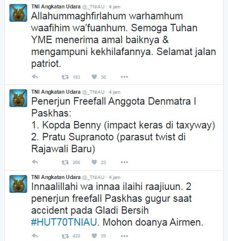 Penerjun Payung TNI AL Tewas Jatuh di Halim