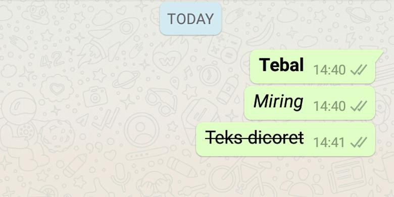 Update Terbaru, Cara Membuat Huruf Cetak Tebal dan Miring di Whatsapp
