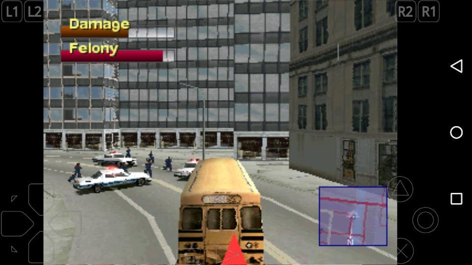 Ngendarain Bus di Driver 2 PS1, Main dari Hape Android