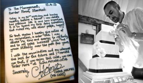 Surat Unik di Atas Kue