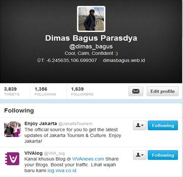 Dimas Bagus Follow VIVA_log & JakartaTourism