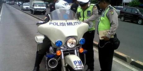 Polisi Militer di Tilang Polantas
