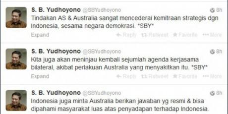SBY Protes Keras Australia di Twitter