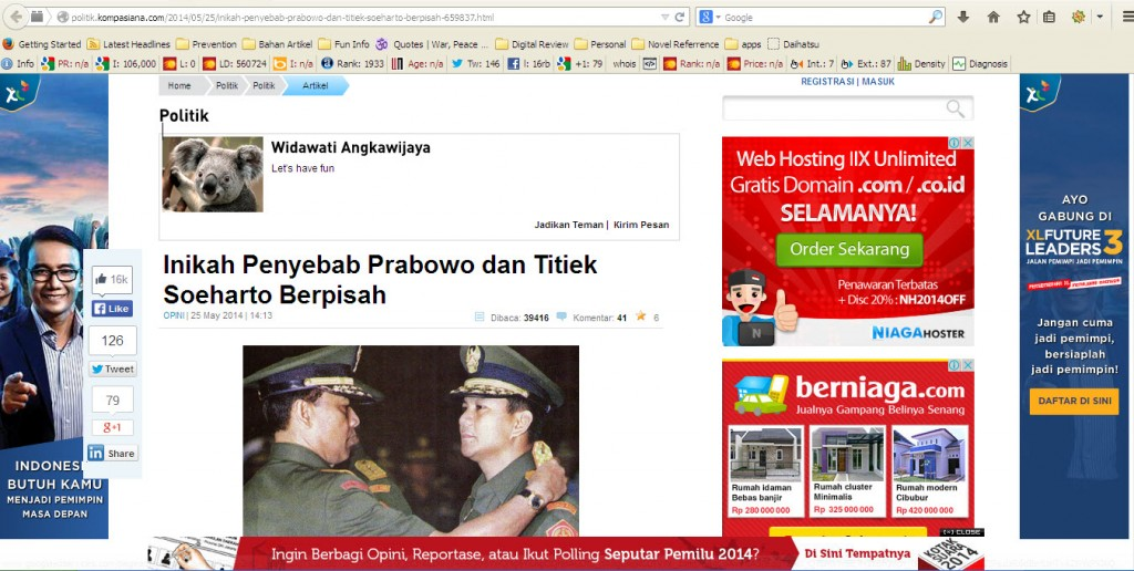 Fakta Tentang Prabowo Subianto - Kompasiana
