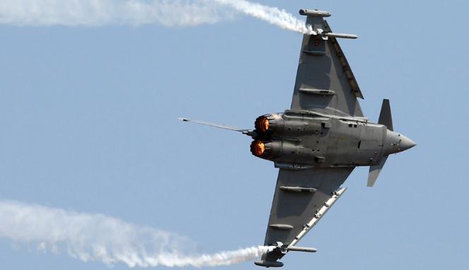 Jet Tempur Eurofighter Typhoon Jatuh di Spanyol