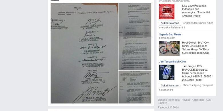 Surat Keputusan DKP Prabowo