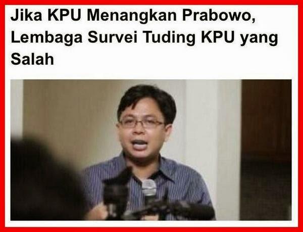 Burhanuddin Muhtadi Salahkan KPU dengan sikap arogan