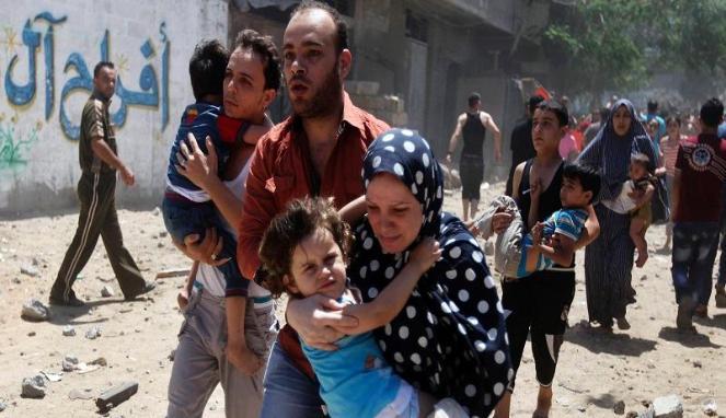 Israel Membombardir Palestina, Membuat Warga Berlarian Panik