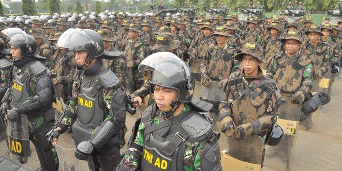 Hari Putusan MK, 5 ribu personel TNI apel di Kemayoran