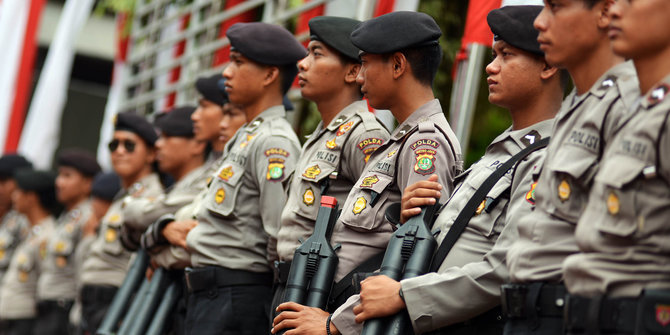 Hari Putusan MK polisi jaga ketat perbatasan Jakarta