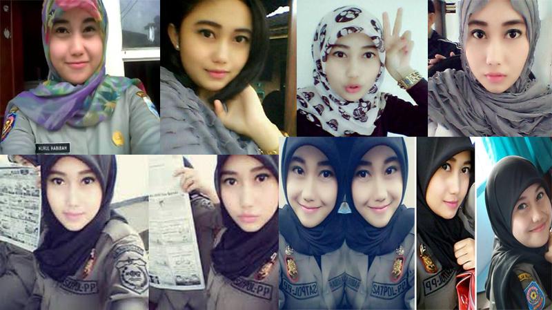 Berbagai Pose Foto Satpol PP Cantik - Nurul Habibah