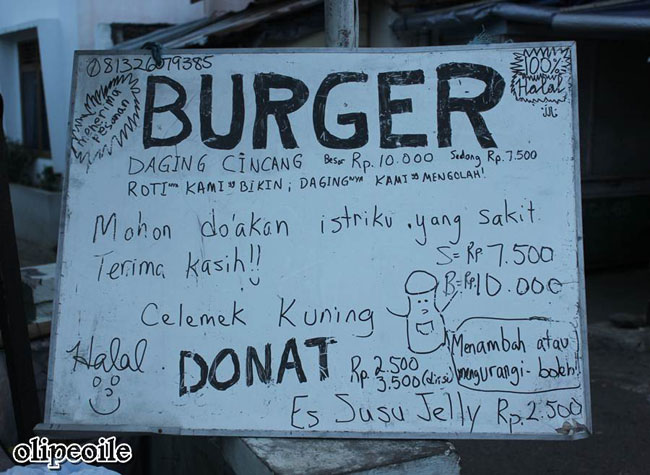 Bule Jualan Burger