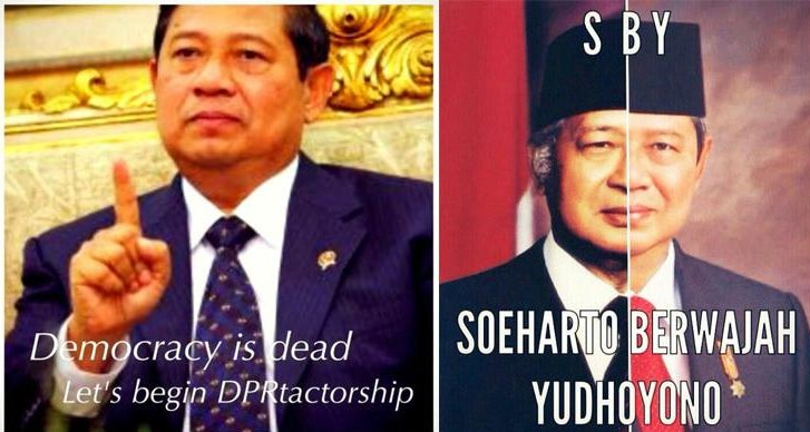 Meme Lucu SBY Protes RUU Pilkada 3