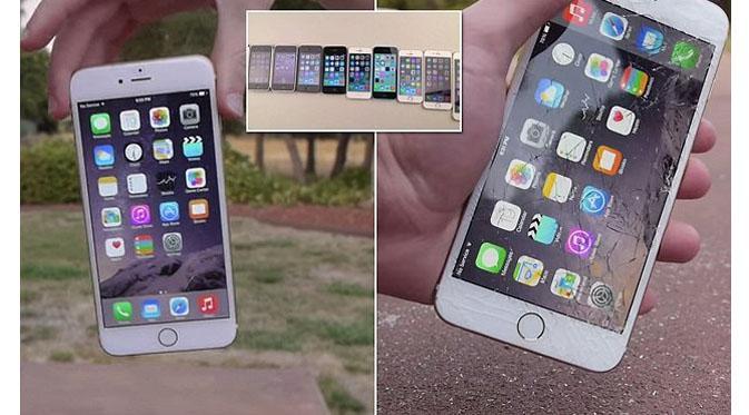 iPhone 6 vs iPhone Lama saat Test Banting