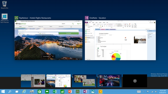 Fitur Windows 10 - Multiple Desktop