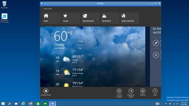 Fitur Windows 10 - Semua Berjalan dalam Window