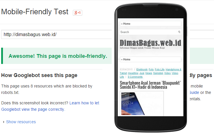 DimasBagus Web Id Lolos Mobile Friendly Test