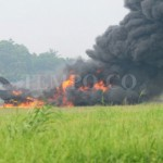 F-16 TNI Saat Terbakar - Tempo
