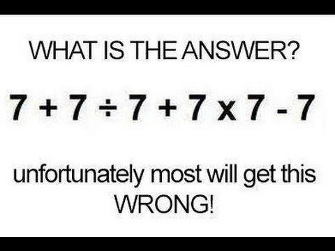 Hasil Hitungan Matematika yang Lumayan Mengecoh