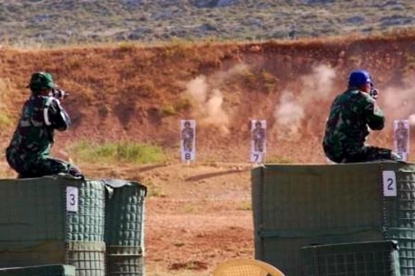 Pasukan Garuda Lomba Tembak di Lebanon
