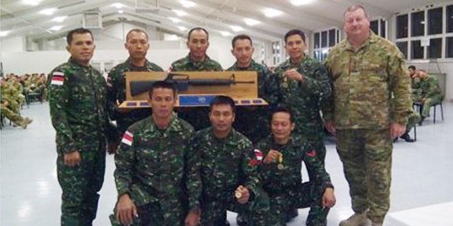 TNI Juara Tembak AASAM 2015