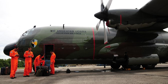 Ilustrasi Pesawat Hercules TNI AU Jatuh
