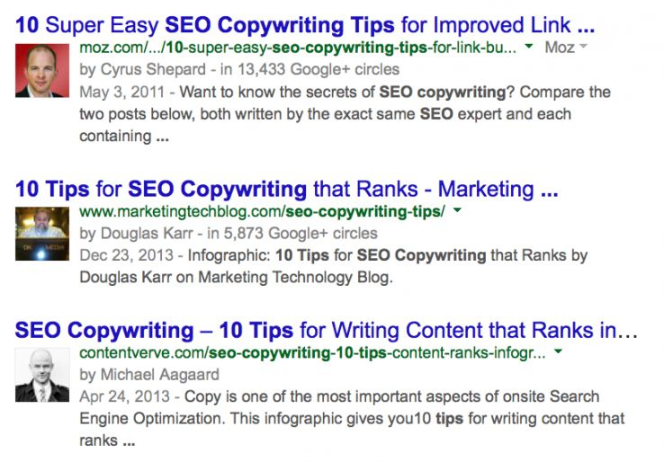 SEO Factors - Google Authorship