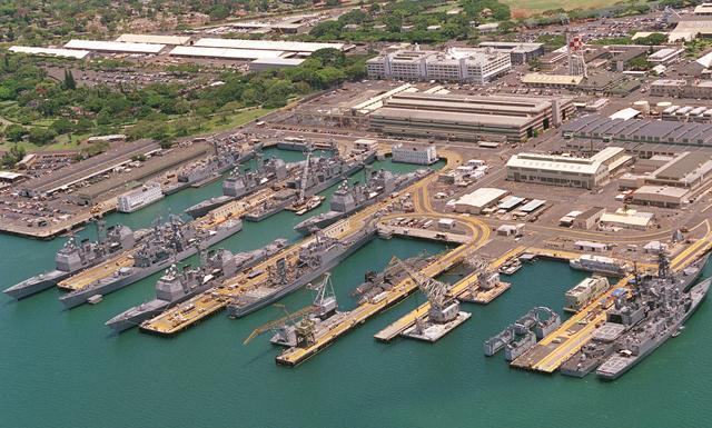 Armada Angkatan Laut Amerika di Pearl Harbor
