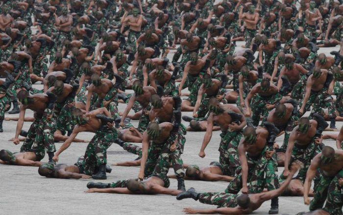 Atraksi Pasukan TNI di HUT 70 TNI - Amston Proel - Tempo