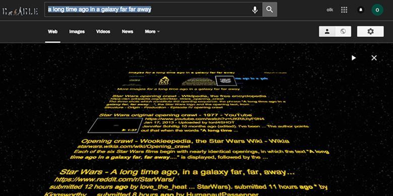 Googling Easter Egg Star Wars Muncul Tampilan Rahasia yang Unik
