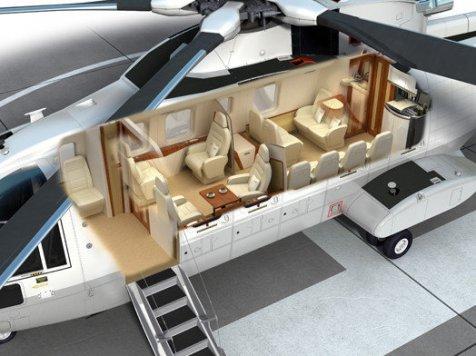 Interior Helikopter Baru Presiden Jokowi