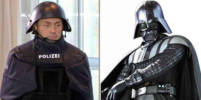 Seragam Anti Peluru Polisi Jerman Mirip Darth Vader