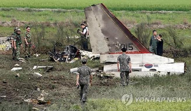 Bangkai Pesawat T-50 Koera Selatan yang Jatuh 15 November 2012