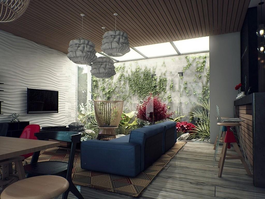 Desain Ruang Keluarga Skylight