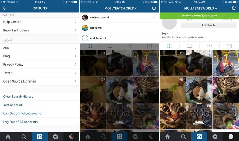 Menambah Banyak Akun di Instagram