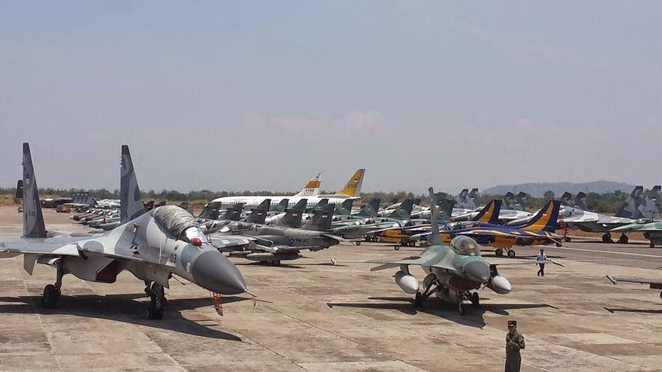 Sukhoi Su-37/30 Siap Unjuk Gigi di HUT TNI AU ke 70 - Deretan Pesawat Tempur TNI AU