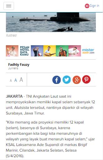 Proyeksi Jumlah Kapal Selam TNI AL